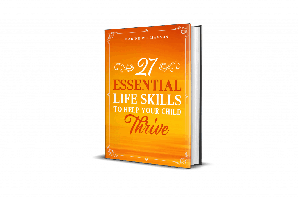 A copy of 27 Essential Life Skills to Help Your Child Thrive.