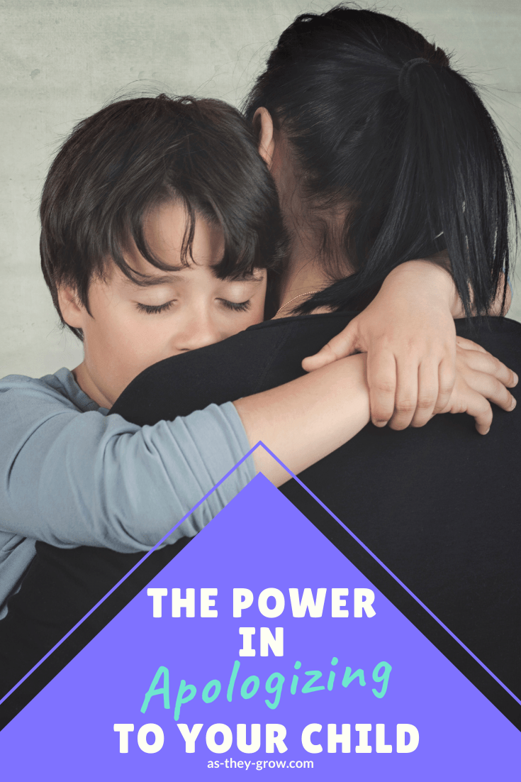 There are huge benefits in apologising to your child when needed. Learn how doing this can strengthen your relationships and increase the respect that your child has for you. Also includes a practical guide on how to apologise effectively. #howtoapologise, #sorry, #familyrelationships, #happyfamilies