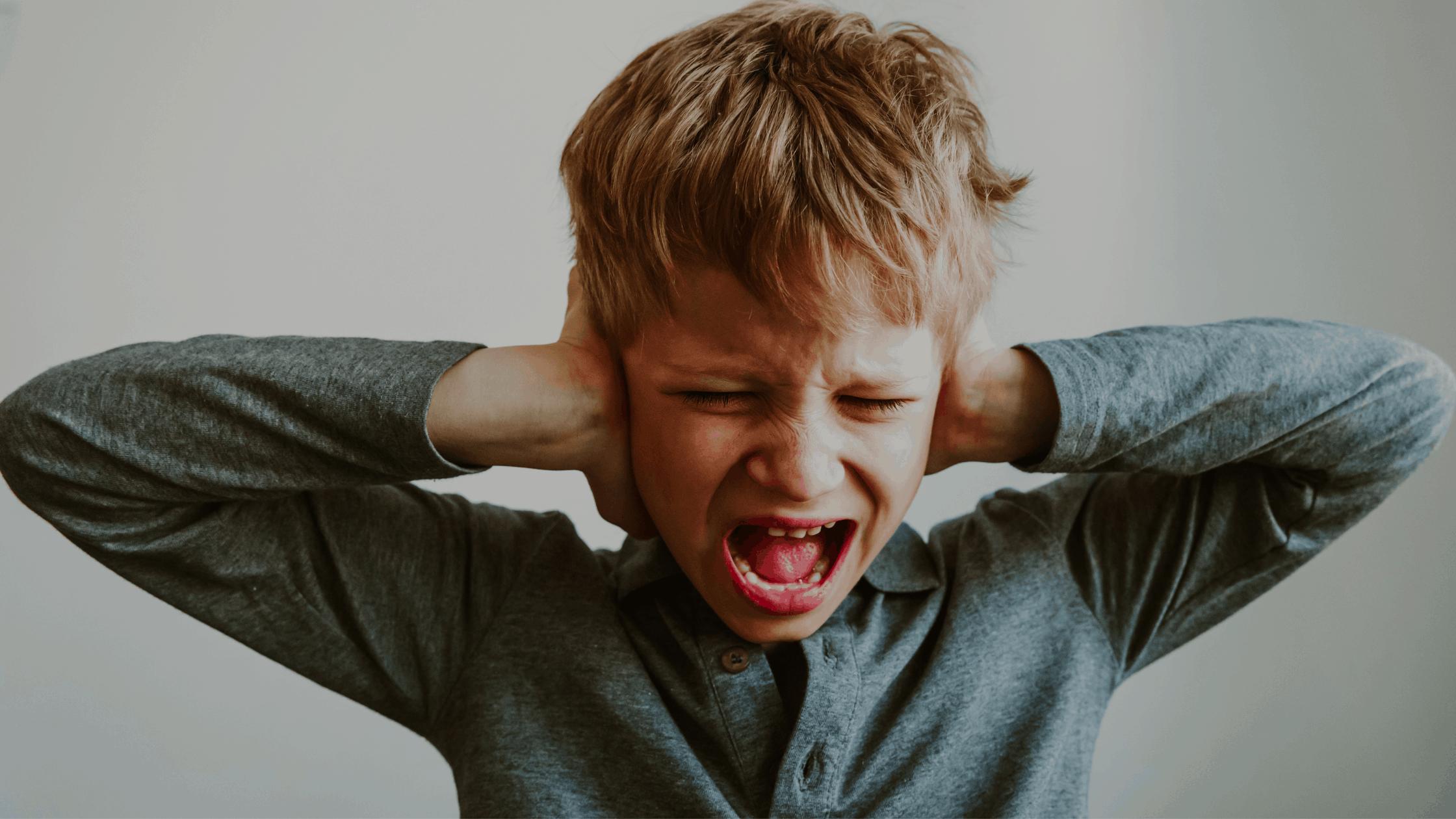 a screaming child having been woken by a night terror