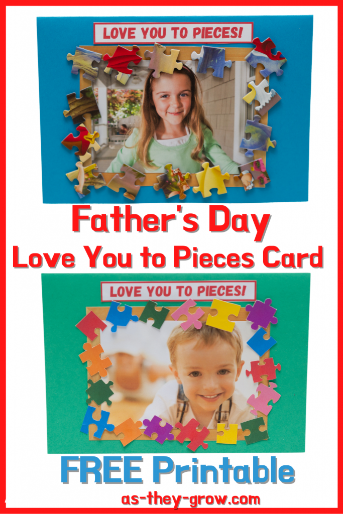 Father's Day Card to Make - showing 2 love you to pieces cards