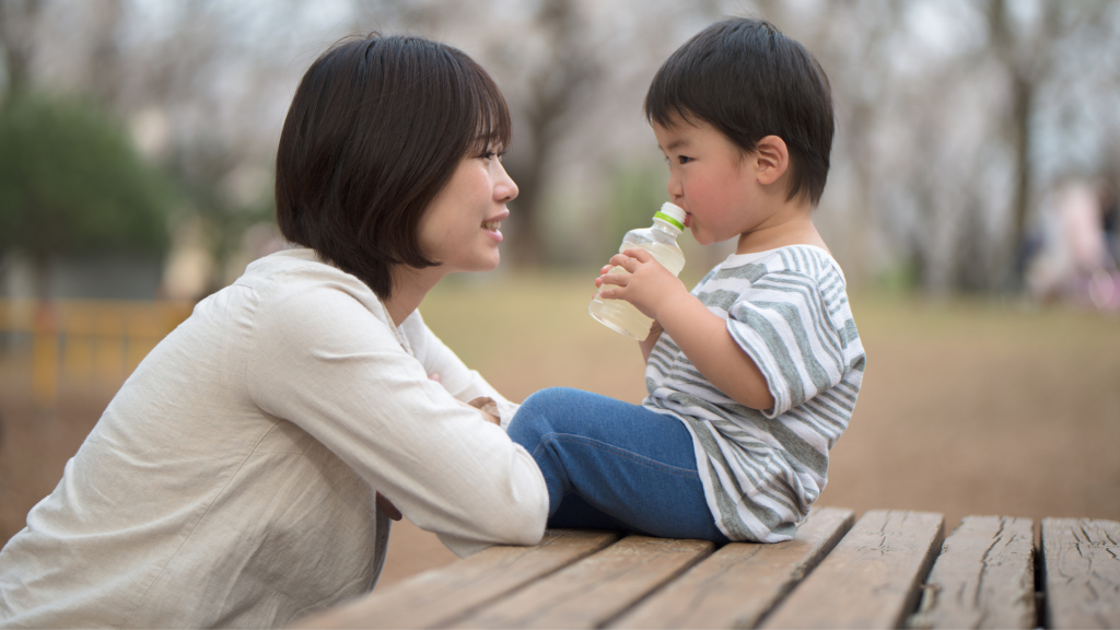 How to teach a child empathy: mother talking to child about their emotions