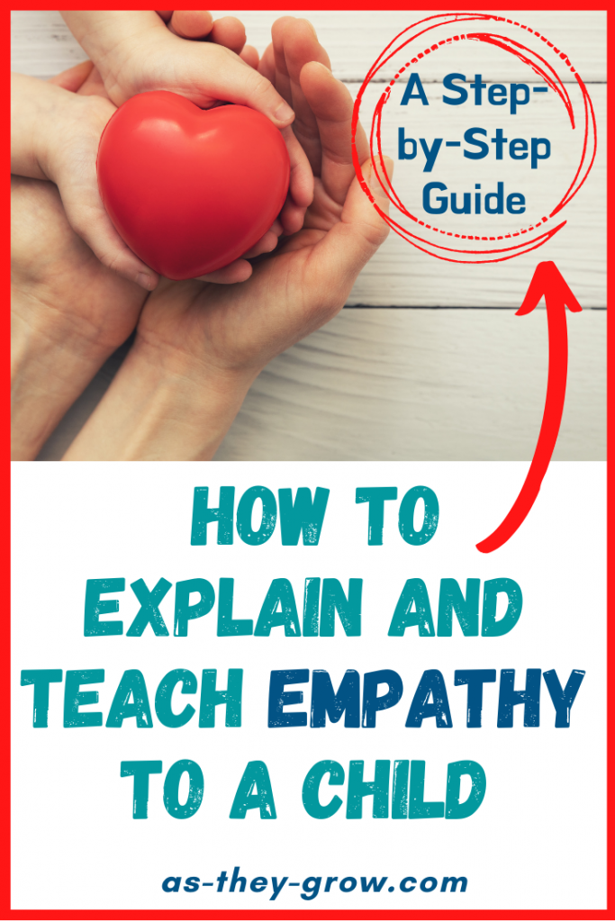 How to explain empathy to a child pin